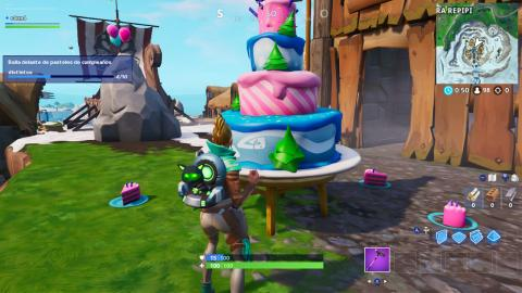 Pasteles de Cumpleaños Fortnite ubicacion