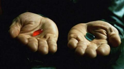 Píldora roja y azul de Matrix