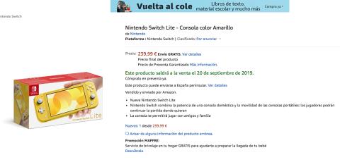 Precio Nintendo Switch Lite