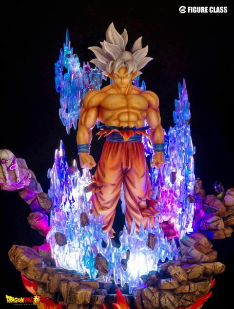 La resina iluminada de Goku Ultra Instinto
