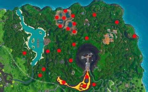 Respiraderos volcánicos bioma jungla Fortnite