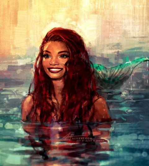 La Sirenita: fanart de Halle Bailey 02
