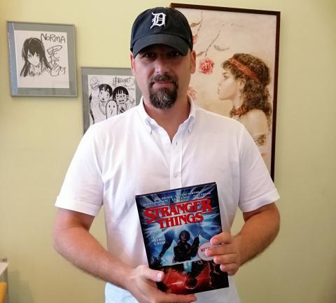 Stefano Martino, dibujante del cómic de Stranger Things