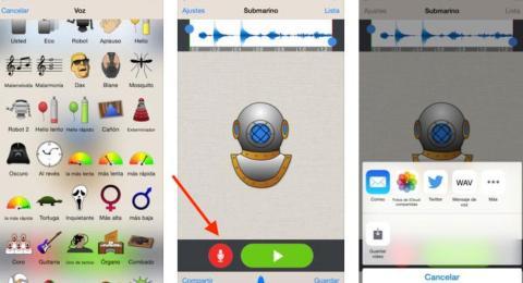WhatsApp cambiar voz iPhone