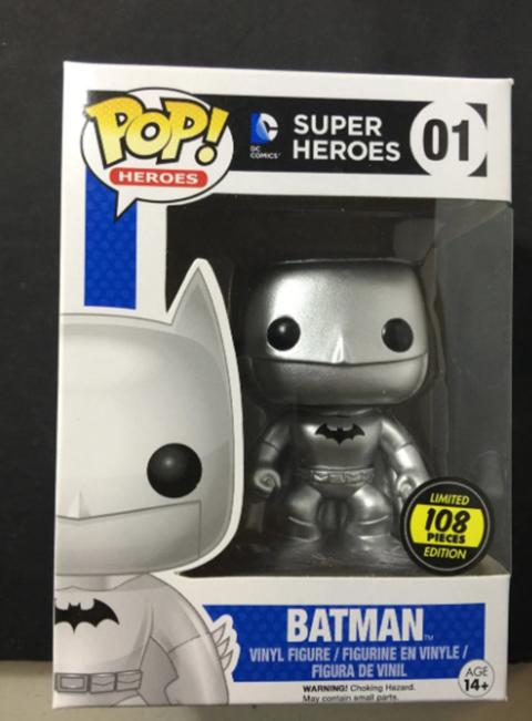Batman plateado Funko Pop