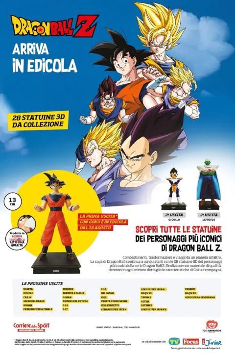 Dragon Ball Z figuras en quioscos