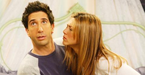 ¿Se estaban realmente tomando un descanso Ross y Rachel en Friends?