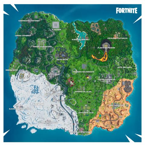 Fortnite temporada X mapa