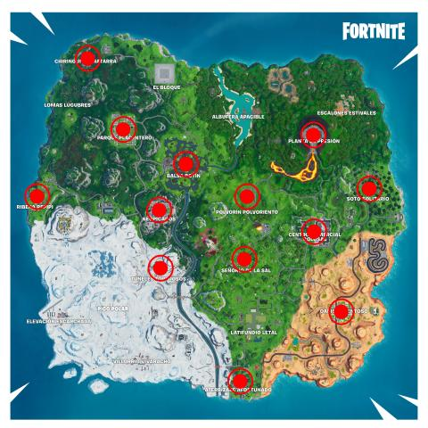 Fortnite temporada 10 desafío