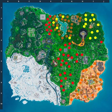Fortnite Season 10 card map