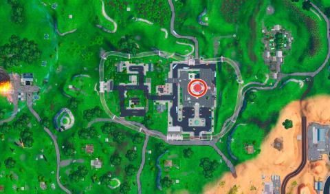 Mapa grúa y fuente Fortnite