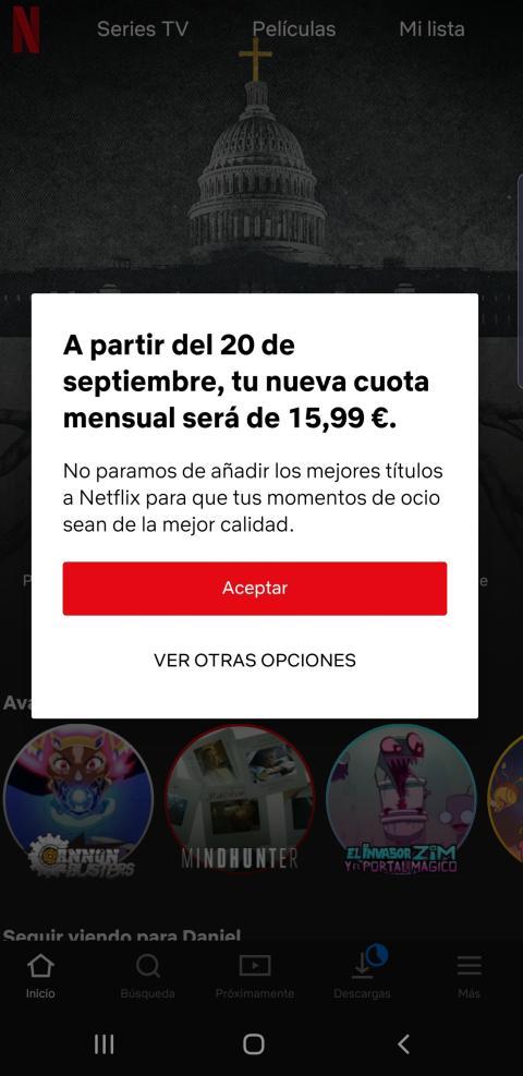 Netflix nueva tarifa