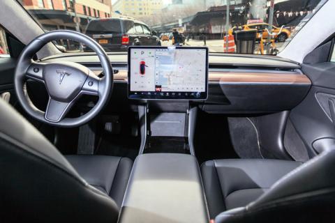 tesla coche interior