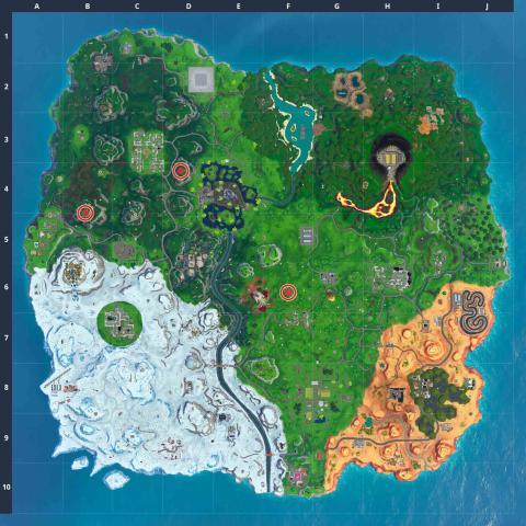 Batseñales Fortnite mapa