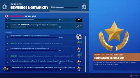Desafíos Bienvenidos a Gotham Fortnite