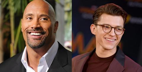 Dwayne Johnson y Tom Holland