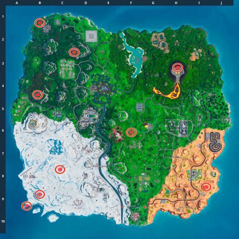 Mapa Carteles no bailar Fortnite