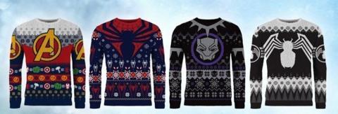 """Marvel colección de jerséis """"feos"""" de Navidad"""