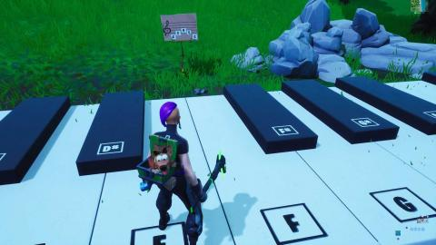 Visita un piano gigante y toca la partitura Fortnite Temporada 10