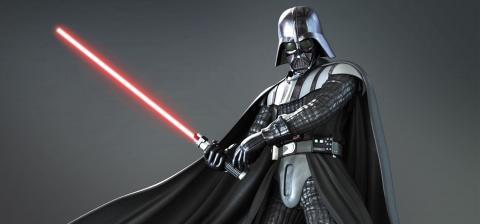 Darth Vader con sable de luz
