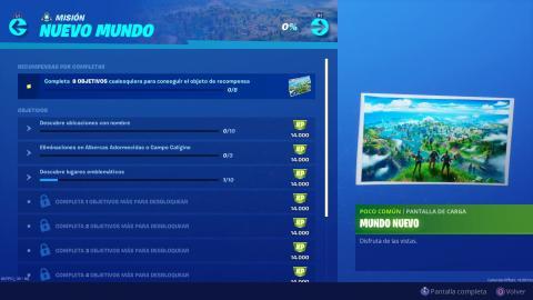 Desafíos Nuevo Mundo Fortnite