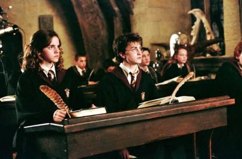 Harry Potter - Escritura con pluma y tinta