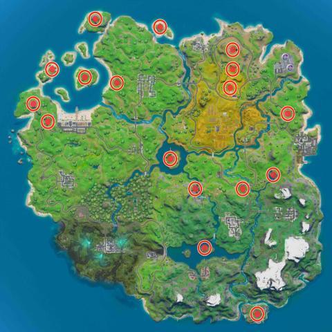 Lugares emblemáticos Fortnite