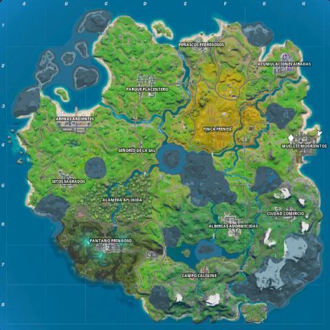 Mapa Fortnite capítulo 2