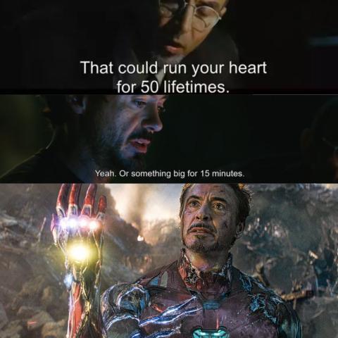Vengadores Endgame - La razón por la que Iron Man soportó el poder de las Gemas del Infinito