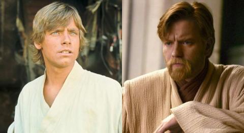Luke Skywalker y Obi-Wan Kenobi