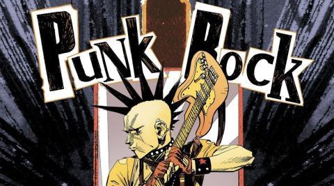 Imagen del cómic de Punk Rock Jesus