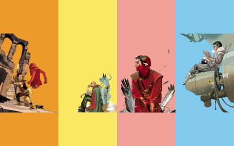 Los personajes del cómic Saga de Brian K. Vaughan