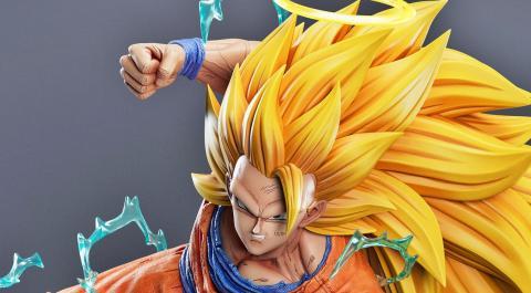 La espectacular figura de Goku Super Saiyan 3 en la película Fusión