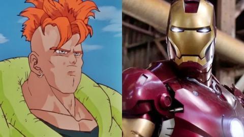 La espectacular mezcla del Androide 16 de Dragon Ball con Iron man, según este artista