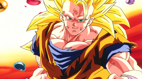 La figura Grandista de Goku Super Saiyan 3