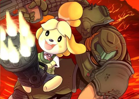Animal Crossing y Doom Eternal