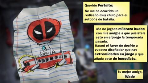Find the letter Deadpool for Epic Games Fortnite