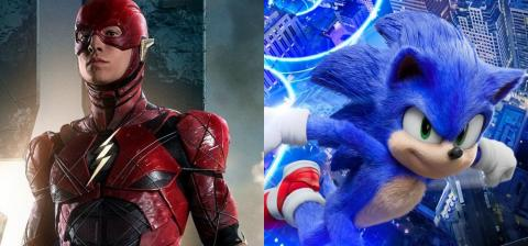 Imaginan el divertido crossover del Sonic de la película y Flash