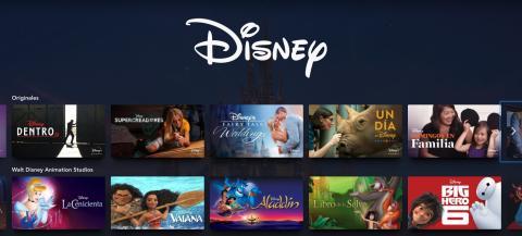 Interfaz de Disney Plus España