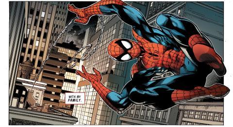 Viñeta de Spider-Man: Toda una vida, cómic de Marvel