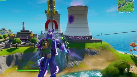 Sube a las turbinas de Acumulaciones Airadas, usa una tirolina y un pasadizo secreto en una misma partida en Fortnite