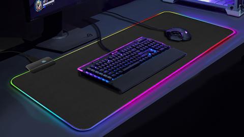 Alfombrilla RGB de AliExpress