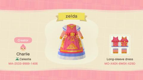 Códigos diseño Zelda para Animal Crossing New Horizons