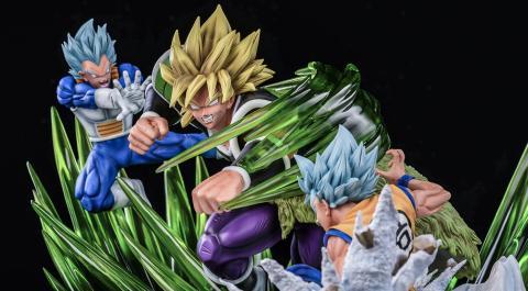 La nueva resina de Goku, Vegeta y Broly es espectacular