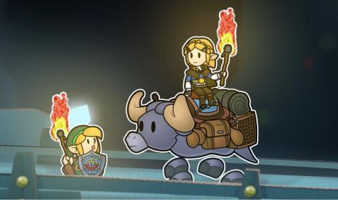 Paper Zelda fan