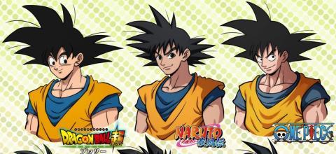 Así sería Son Goku de Dragon Ball si protagonizara otros animes