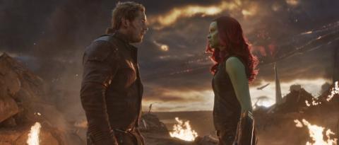 Vengadores Endgame - Star Lord y Gamora