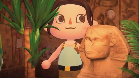 Animal Crossing New Horizons tomb raider