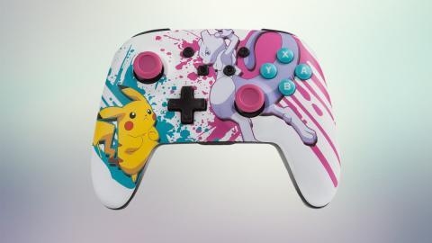 Mando inalámbrico PowerA Mewtwo Pikachu