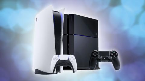 PlayStation 5 junto a PlayStation 4